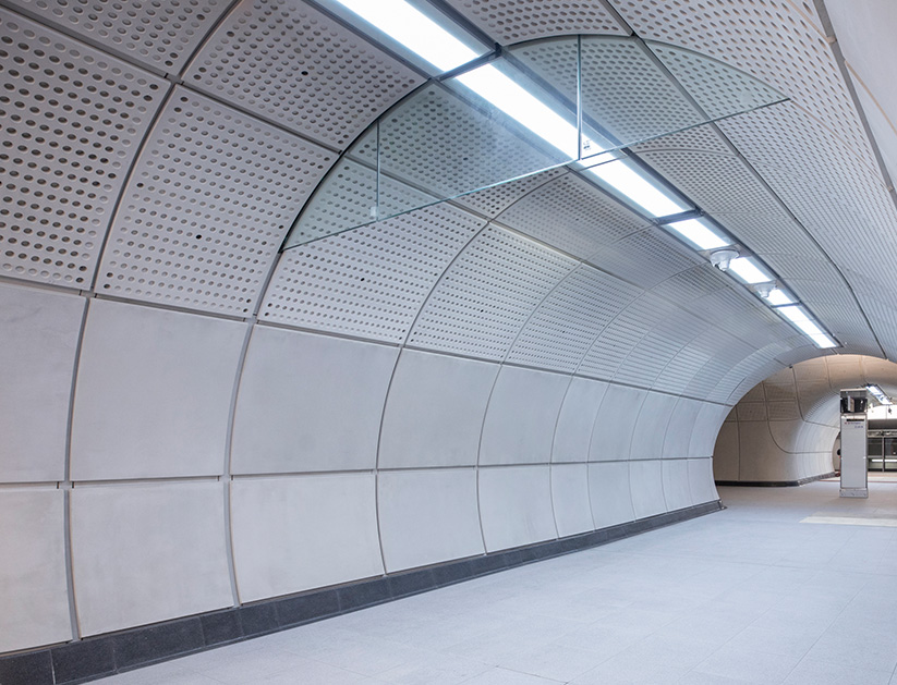 Typical design of a Cross Passage  on the Elizabeth Line